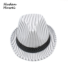 086567bd33329e summer fast dry Striped jazz cap hat caasual Panama Fedoras Outdoor Beach  Travel Sunhat chapeau for