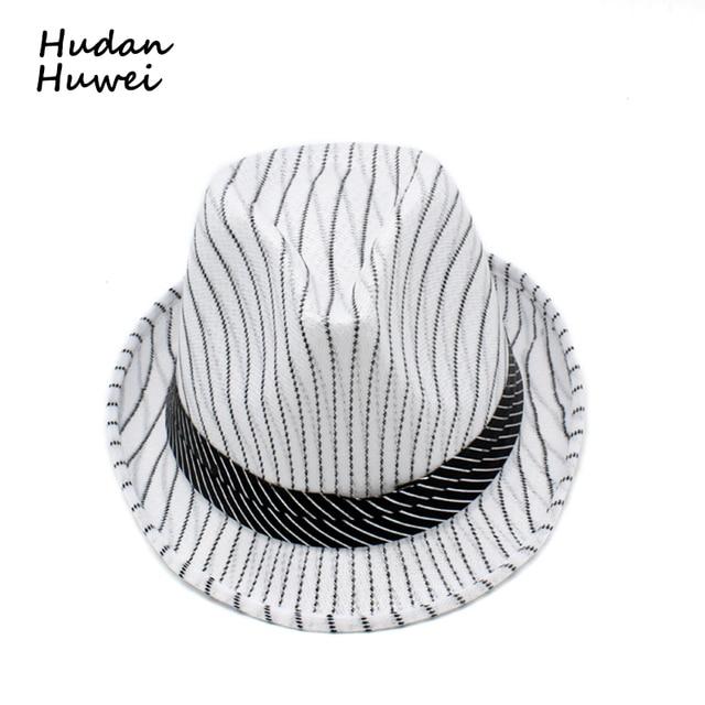 b733174ec00 summer fast dry Striped jazz cap hat caasual Panama Fedoras Outdoor Beach  Travel Sunhat chapeau for