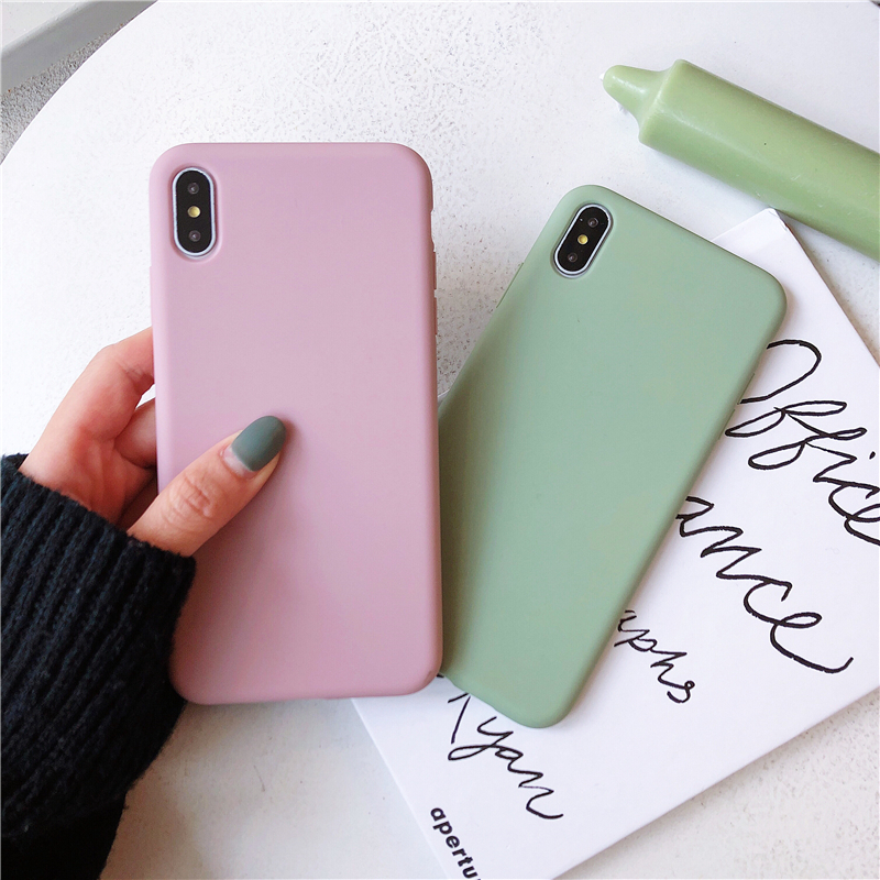 <font><b>Original</b></font> <font><b>Case</b></font> For <font><b>iPhone</b></font> 6 6S 7 <font><b>8</b></font> Plus X XS XS MAX XR Soft <font><b>Silicone</b></font> Protect Soft TPU Cute Candy Anti-knock Rubber Cover Caqa image