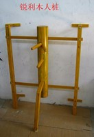 Wall Hung Elm Wing Chun Wooden Dummy, chinese kung fu adjustment wall hanging durable wood dummy for high persons