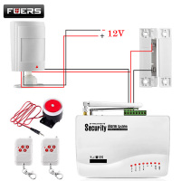 GSM Alarm System For Home Security System With Wired PIR Door Sensor Dual Antenna Burglar