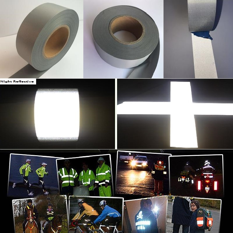 5M Length Normal Light Reflective Chemical Cloth Warning Reflective Safety Fabric Reflective Tape