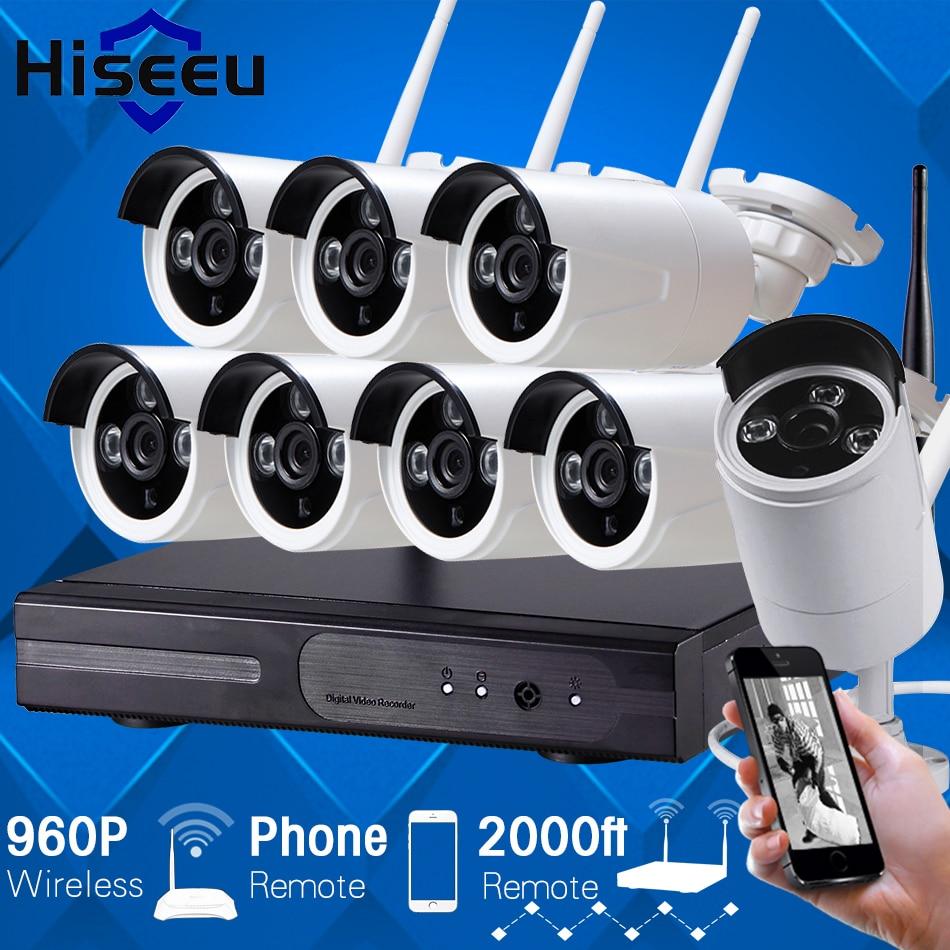 8CH 960P HD Wireless CCTV System DVR NVR kit IP Camera WIFI Outdoor CCTV Camera kit