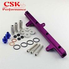 Camiseta nueva con inyector de alimentación, Riel de combustible compatible con 240SX S13 SR20 SR20det SIM purple
