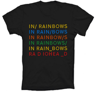 New Mens Rock Band RadioHead In RainBows T Shirt Custom Personalized Short Sleeve Summer Top Design