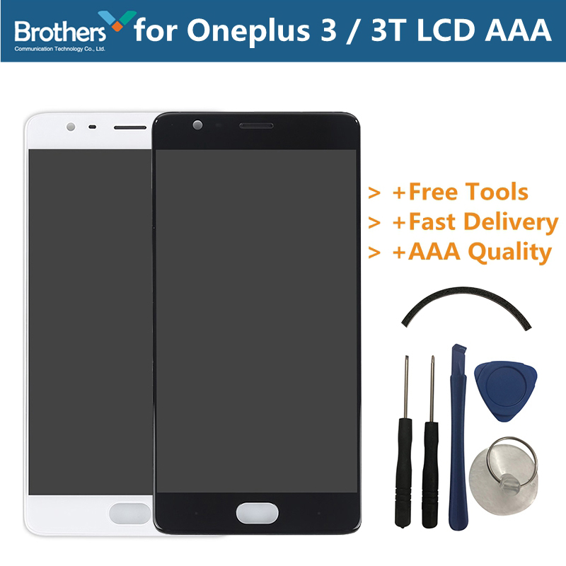 LCD Screen Display for Oneplus 3 3T Touch Screen for Oneplus 3 3T A3000 With Frame Lcd Digitizer Assembly Phone Replacement PartLCD Screen Display for Oneplus 3 3T Touch Screen for Oneplus 3 3T A3000 With Frame Lcd Digitizer Assembly Phone Replacement Part