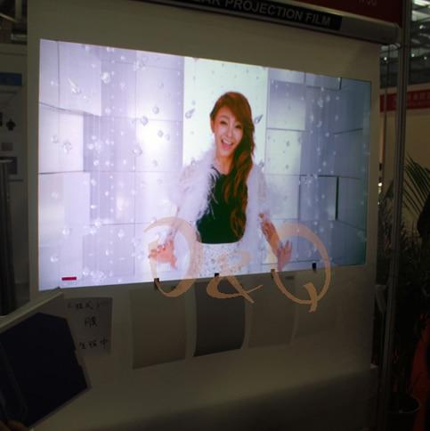 1.52 m * 1.7 m Trasparente Adesiva Posteriore Schermo di Proiezione 3D Pellicola Olografica Della Proiezione