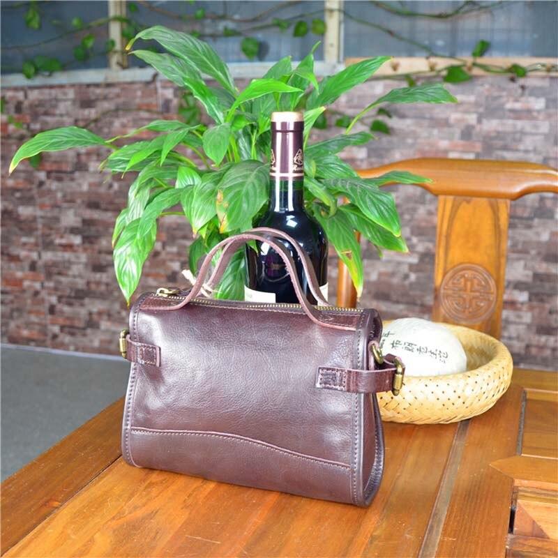 AETOO Original bolso de mujer de cuero curtido vegetal retro bolsa de crema de árbol bolsa de mensajero portátil hecha a mano
