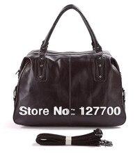 7071C Genuine Vintage Leather Unisex Coffee-Brown Handbag Tote Vintage Travel Bag