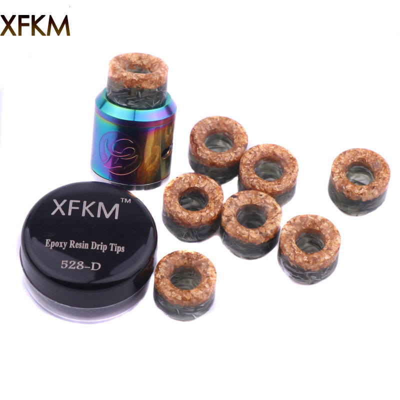 XFKM NEW 810 Drip Tips Epoxy Resin Drip Tip Wide Bore Mouthpiece For Kennedy24 Battle Goon 528-d RDA Atomizers