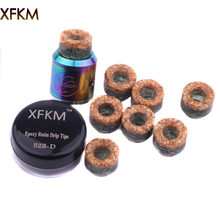 XFKM NEW 810 Drip Tips Epoxy Resin Drip Tip Wide Bore Mouthpiece for Kennedy24 Battle Goon 528-d RDA Atomizers(China)