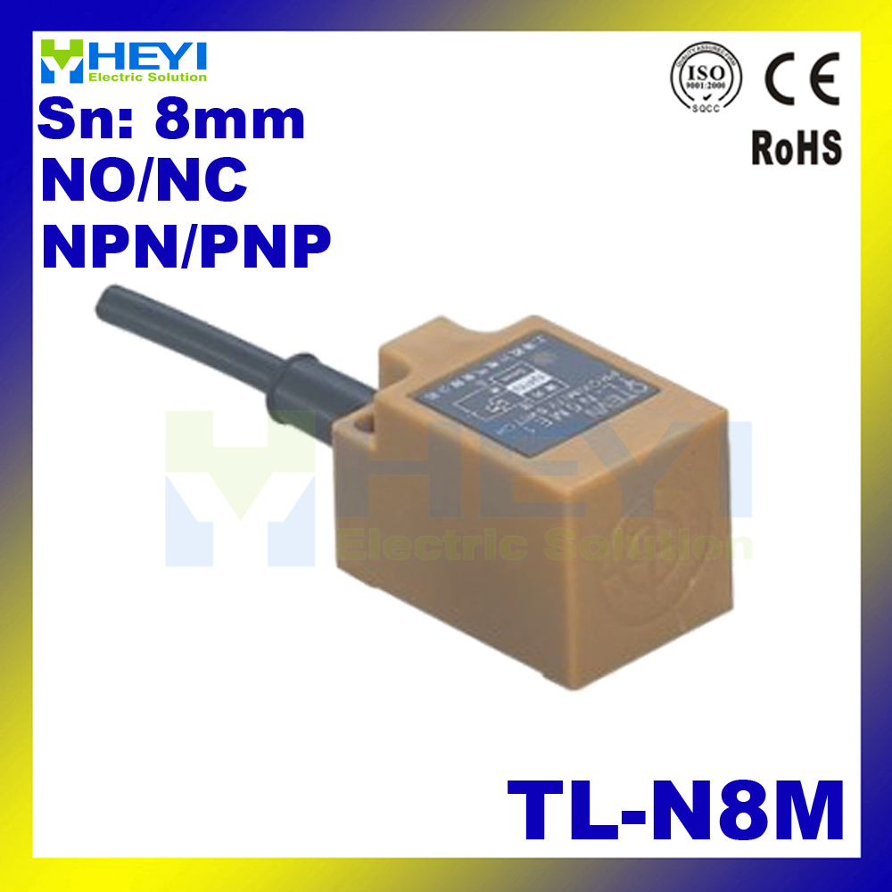 Tl N8m Non Flush Square Type Inductive Proximity Sensor Sensoring 2wire Wiring Diagram Range 8mm 2 Wire Or 3 No Nc In Switches From Lights Lighting On