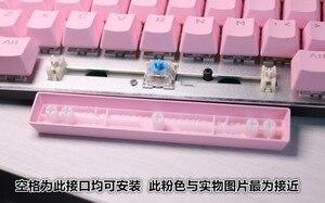Image 3 - 104 Chiavi OEM Profilo Switch Cherry MX Tastiera Meccanica Chiave Cappellini ABS di Colore Rosa Retroilluminazione Cappellini