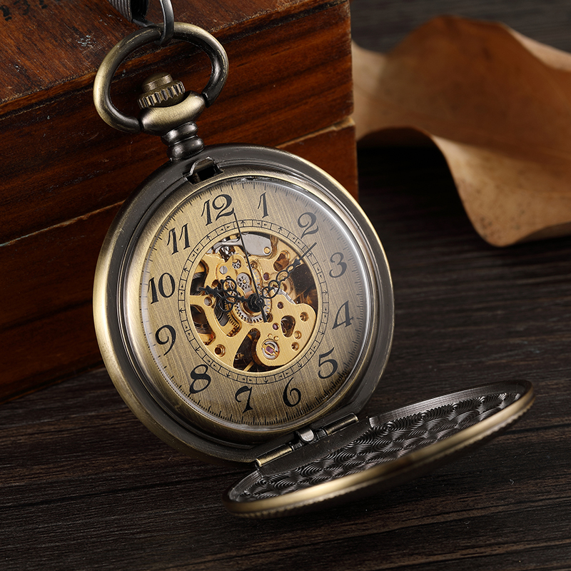 Mecânica Pocket Watch Men Cloc