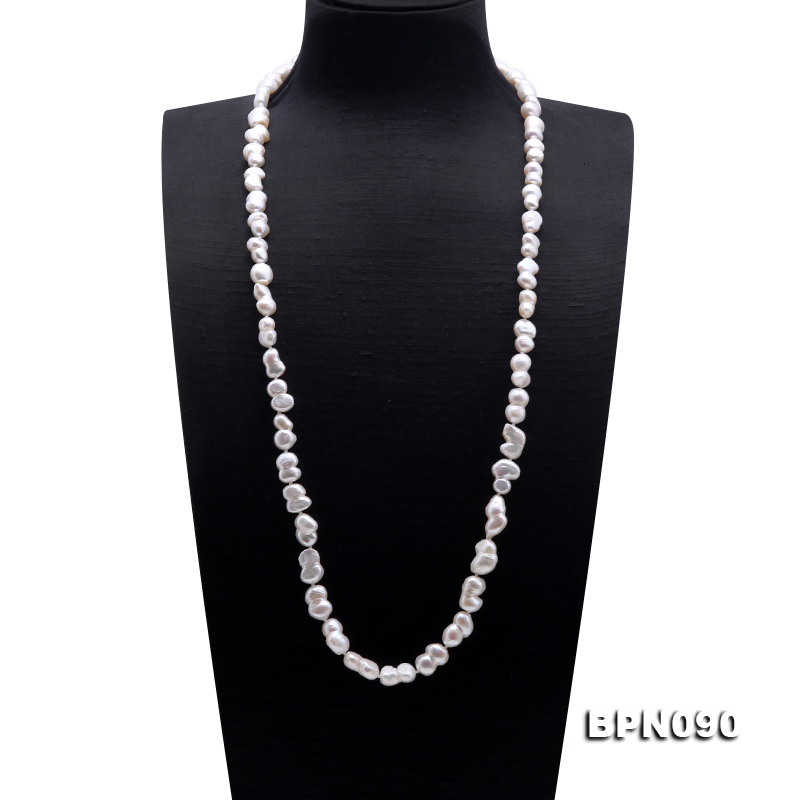 Unique Pearls jewellery Store Natural White Color Baroque Shaper AA 10-12MM Real Freshwater Pearl Necklace 80cmUnique Pearls jewellery Store Natural White Color Baroque Shaper AA 10-12MM Real Freshwater Pearl Necklace 80cm