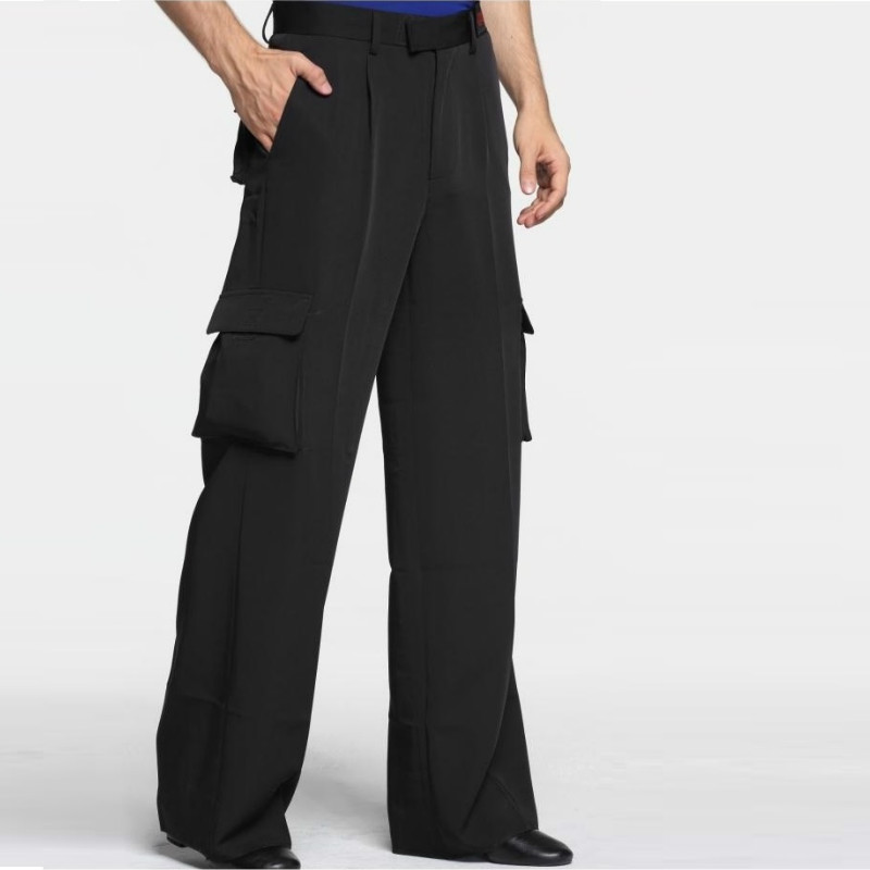 Tango Dance Latin Fringe Dress Mens Ballroom Dance Pants Wide-legged With Pocket Latin Trousers Men Modern Dancewear B-6970