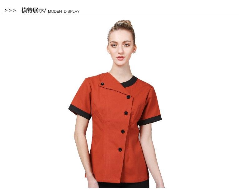 New Top quality cook suit short sleeve restaurant cook chef uniform women hotel kitchen cook work