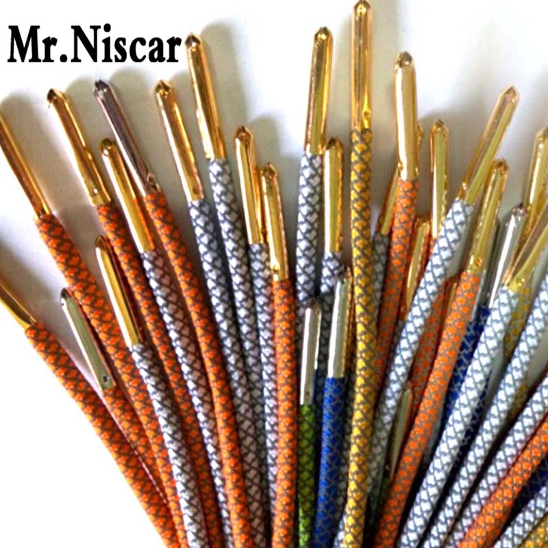 Mr.Niscar 1 Set/4 Pcs 5x25mm Silver Gold Black Bronze Seamless Metal Shoelaces Tips Head Replacement Repair Aglets DIY Sneaker weiou 20pcs lot 4x22mm seamless shoelaces metal aglets bullet shaped head ends replacement repair tips sneaker kits diy custom