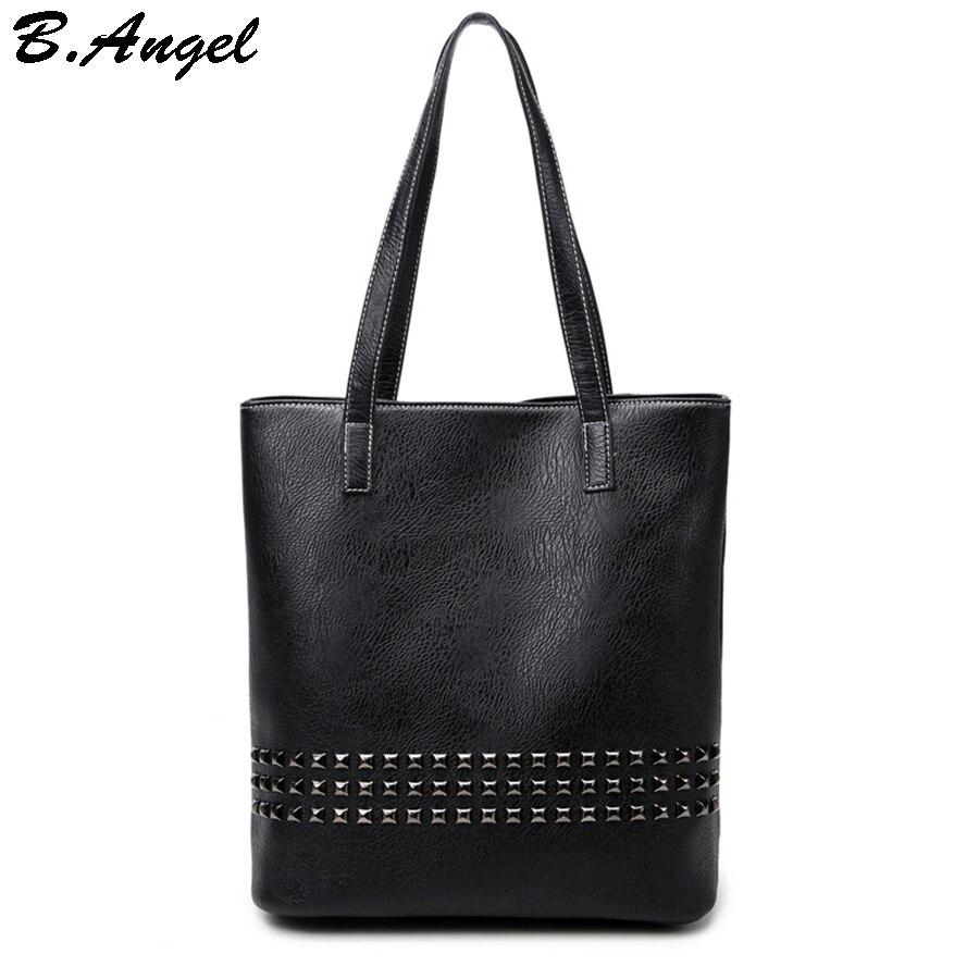 High quality elegant rivet women bag women big tote bag casual handbag high capacity bag bags