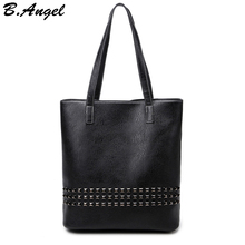 Hohe qualität elegante niet frauen tasche frauen große einkaufstasche lässig handtasche hohe kapazität beutelhandtaschenfrauen bekannten marken