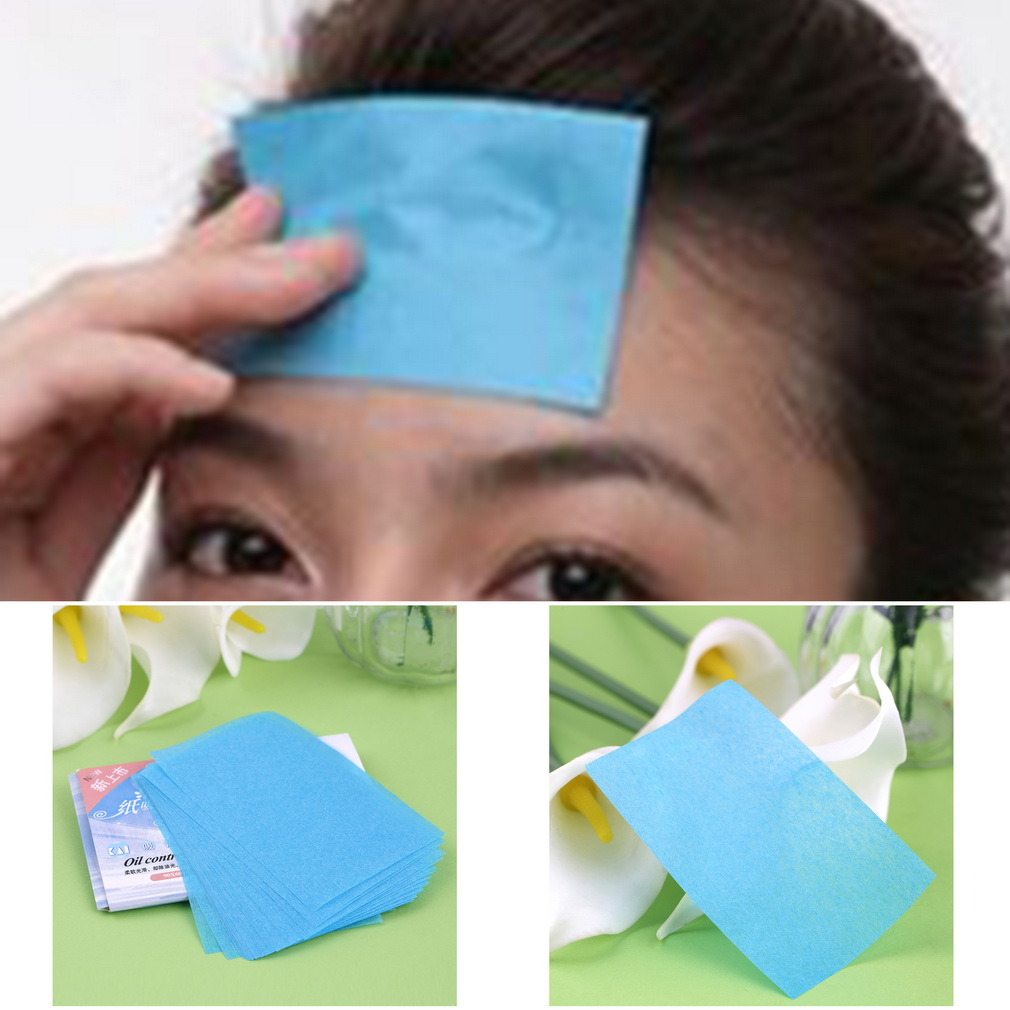 5 pack  (250 Pcs) Paper Pulp Random Facial Oil Control Absorption Film Tissue Makeup Blotting Paper make up tool