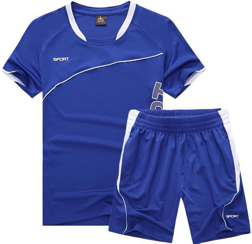 1da3a0e04ee29 Hombres Correr traje manga corta kits Baloncesto entrenamiento rápido seco  camiseta deportes gimnasio fitness ejercicio ropa