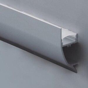 Image 1 - 15 قطعة 1 متر طول مظهر لمبة LED من الألومنيوم رقم الصنف LA LP43 تركيب حائط ملف LED مناسب لشرائط LED بعرض يصل إلى 12 مللي متر