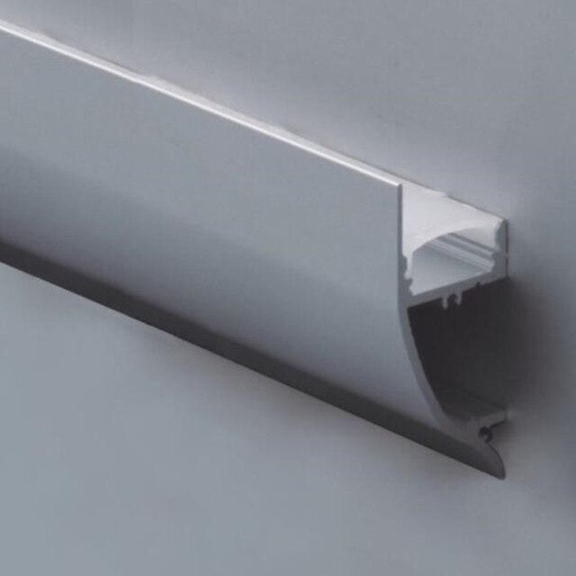 15 قطعة 1 متر طول مظهر لمبة LED من الألومنيوم رقم الصنف LA LP43 تركيب حائط ملف LED مناسب لشرائط LED بعرض يصل إلى 12 مللي متر
