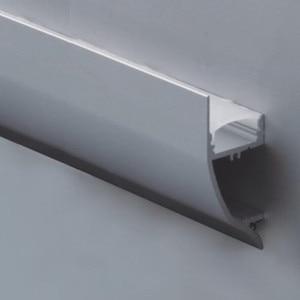 Image 1 - 15 PCS 1 m אורך של אלומיניום LED פרופיל פריט לא. LA LP43 קיר הרכבה LED פרופיל מתאים עבור LED רצועות עד 12mm רוחב