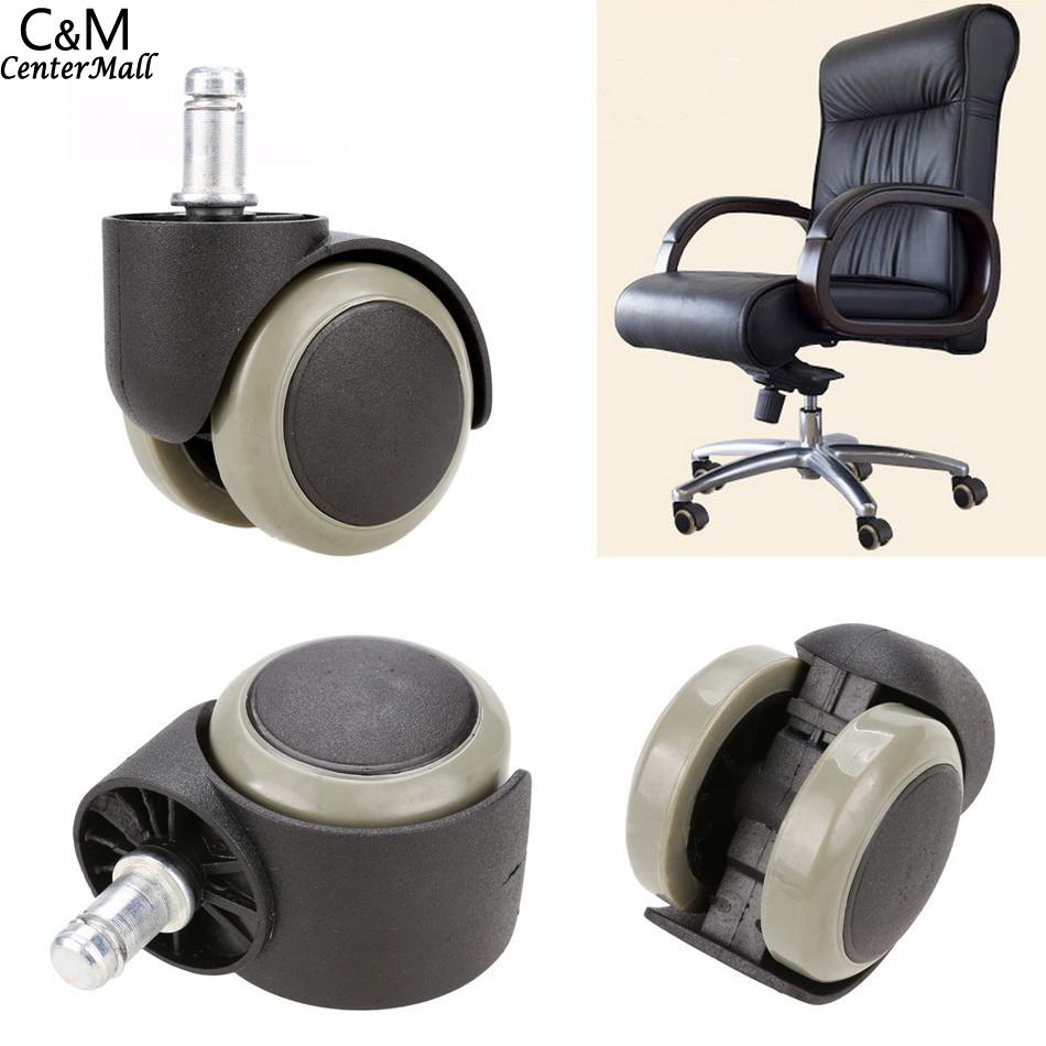 Soft Swivel Replacement Office Funiture Floor Chair Rubber Wheel Caster Wood New 5PCSSoft Swivel Replacement Office Funiture Floor Chair Rubber Wheel Caster Wood New 5PCS