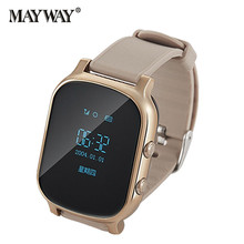 SIM Card Fashion Smart Watch Wireless WIFI SOS GPS Locator for IOS Android Samsung iPhone Xiaomi