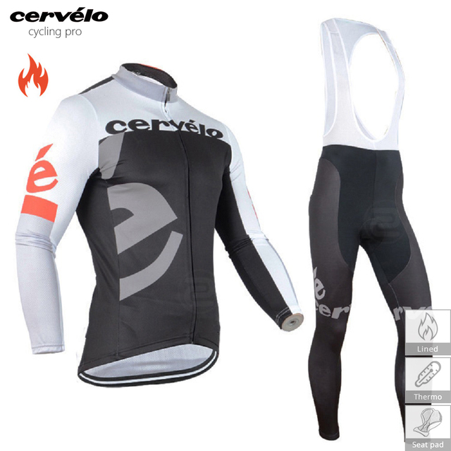 Winter Cycling Clothing Thermal Fleece Cycling Set MTB Bike Clothes Mens  Long Cycling Jersey Set Maillot Ropa Ciclismo Invierno 735a8e9e4