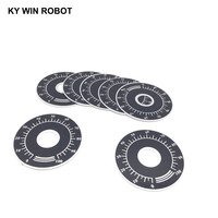 potentiometer knob 10pcs 0-100 WTH118 potentiometer knob scale digital scale can be equipped with WX112 TOPVR (1)