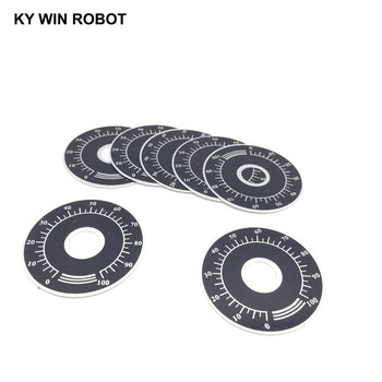10pcs 0-100 WTH118 potentiometer knob scale digital can be equipped with WX112 TOPVR