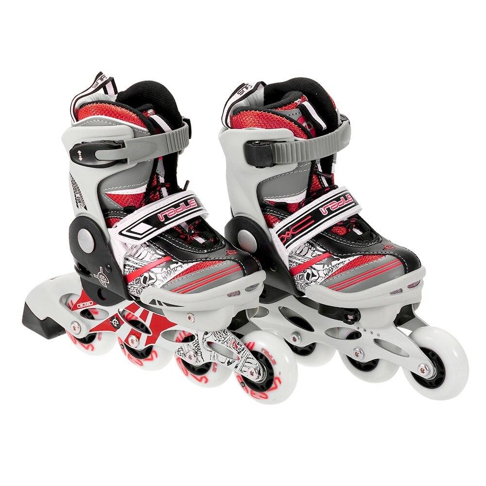 Portable Unisexe Enfant Professionnel rouleau réglable chaussures de patinage roller-skates 68mm Roues avec muet Roulements