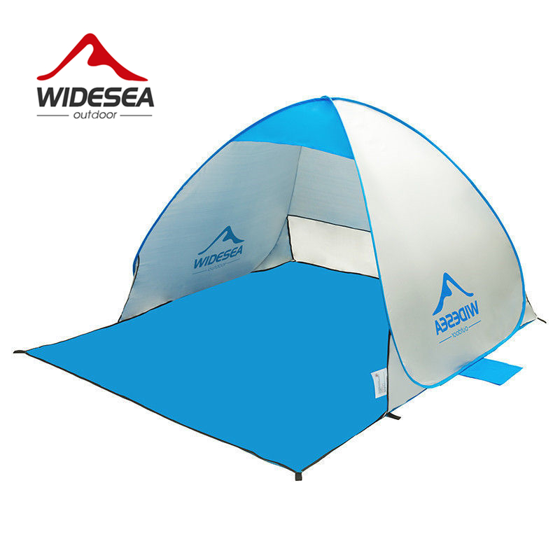 WIDESEA beach tent pop up open 1 2person sunshelter quick automatic 90 UV protective awning tent