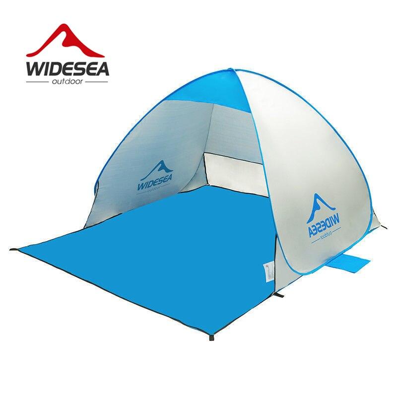 WIDESEA playa tienda pop-up abierto 1-2person sunshelter rápido automático 90% protección UV toldo carpa para camping pesca sombrilla
