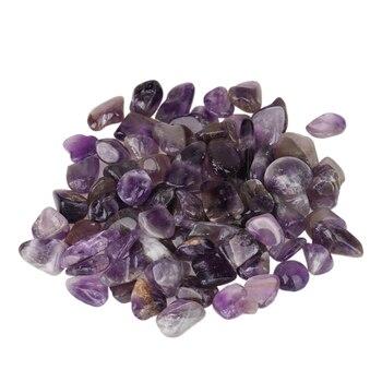100g Natural Amethyst Stone Aquarium Fish Tank Decoration Crystal Purple Gemstone Stone For DIY Accessory Aquatic Pet Supplies