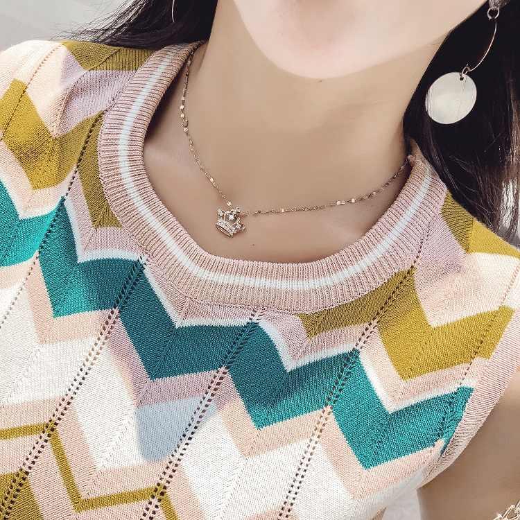 SMTHMA 2020 חדש סגנון שרוולים צבעוני גלי סוודר למעלה + 2pcs מזדמן סריגה חליפות נשים טרנדי אביב סט