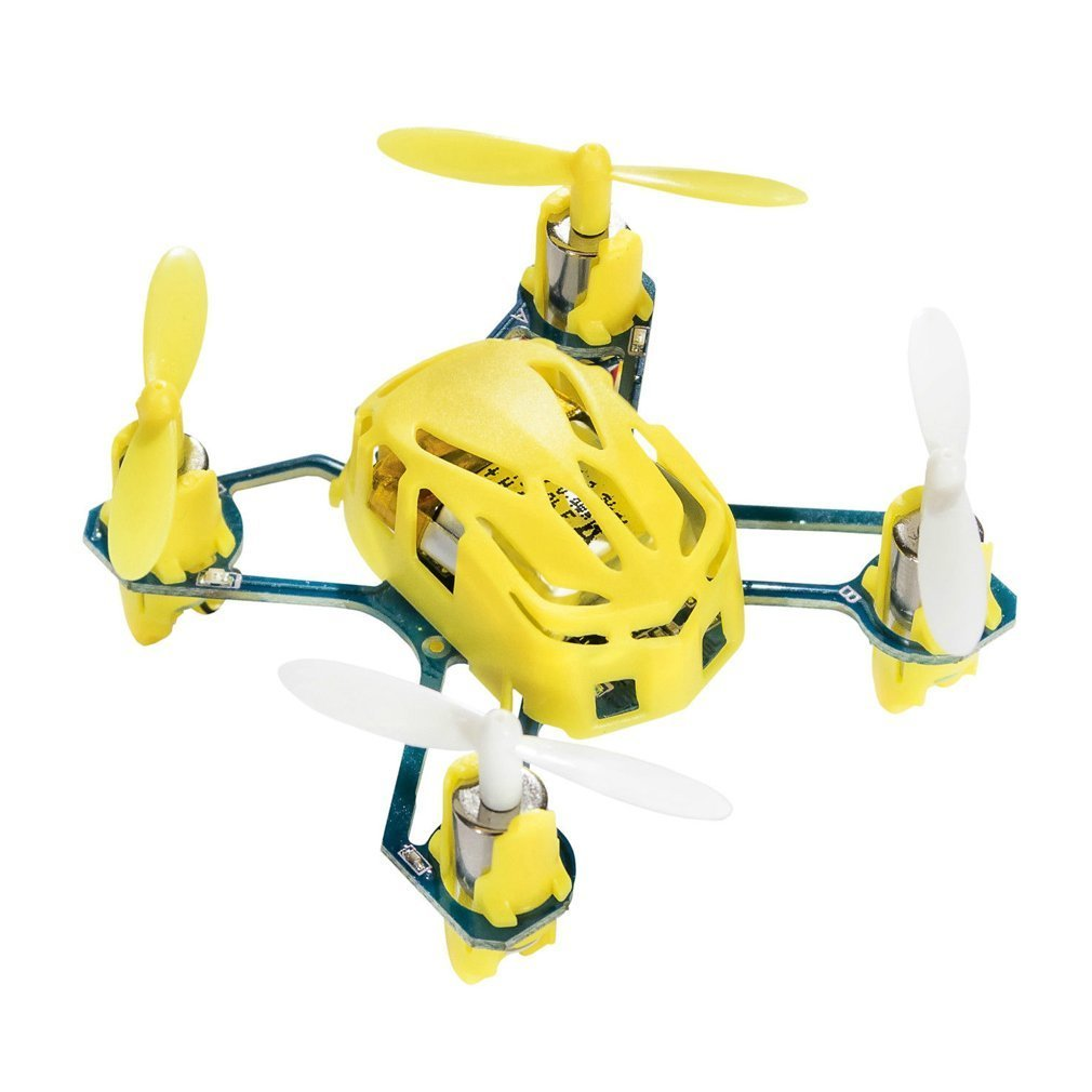 Hubsan Drone NANO Q4 H111 4-CH 2.4GHz Remote Control Mini Quadcopter Yellow for Helicopter mode 2 Professional RC Drone New