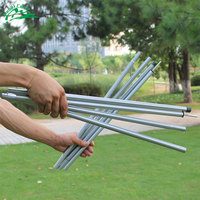 Jeebel 1.3m&2m Camping Awning Pole Awning Rod Tent Poles Tar Tarpaulin Canopy Tent Building Sun Shelter Accessories