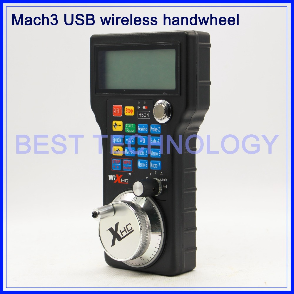 Free shipping!! Mach3 CNC USB MPG Pendant For Mach3 or 4 Axis Engraving CNC Wireless Handwheel цена
