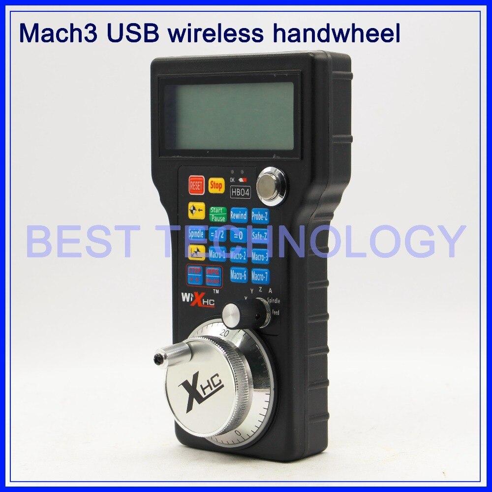 Free shipping!! Mach3 CNC USB MPG Pendant For Mach3 or 4 Axis Engraving CNC Wireless Handwheel