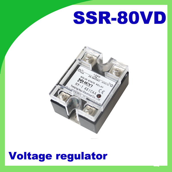 80A SSRinput DC 0 10V Single Phase Ssr Solid State Relay Voltage - Solid State Relay Low Current