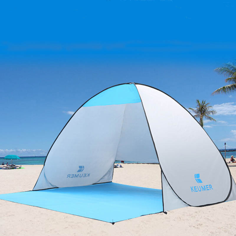 automatic beach tent uv protection pop up tent sun shade awning with mat in sun shelter from. Black Bedroom Furniture Sets. Home Design Ideas