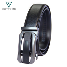 Mens Belts Luxury Designer Men High Quality Genuine Leather Cowskin Automatic Buckle Black 3.5cm Width