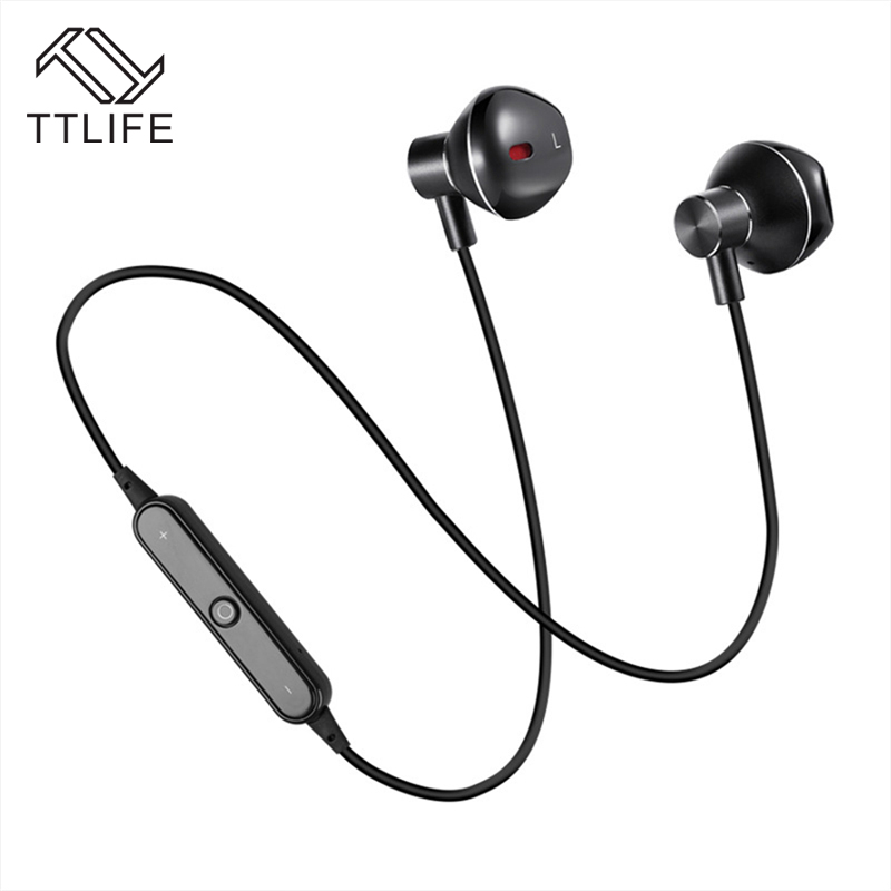 TTLIFE Bluetooth Earphone In Ear Headset Sport Stereo Wireless Bluetooth Headphones with Microphone for IPhone Xiaomi Huawei headphones car charger bluetooth in ear headset earphone earpiece combo wireless connection hands free with microphone 2 in 1