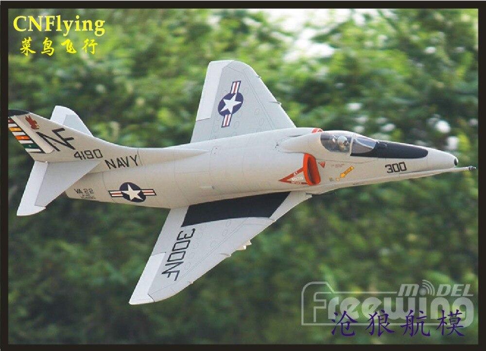 Freewing Electric RC EDF jet A 4E F SKY HAWK plane 80mm metal edf plane 6s