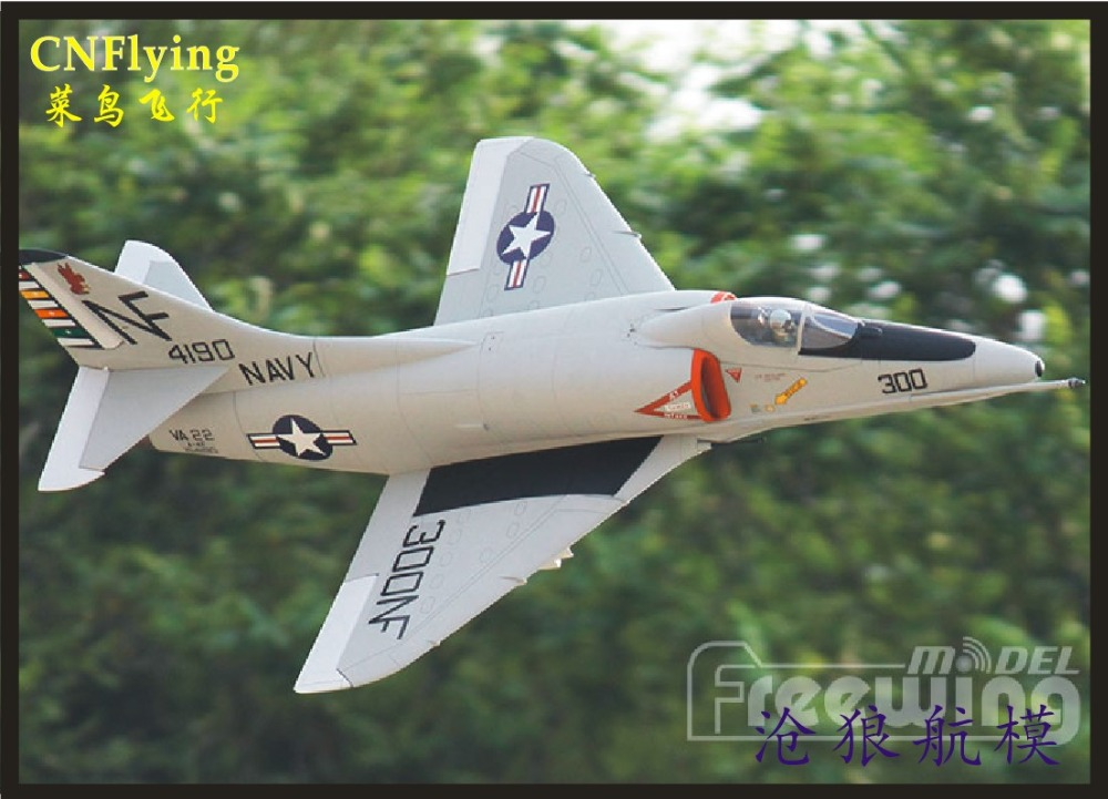 Freewing NEW Electric rc jet A-4E/F SKYHAWK plane 80mm metal edf plane 6s PNP or kit Retractable airplane/RC MODEL HOBBY