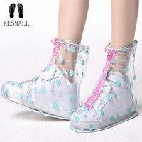 KESMAll Многоразовые водонепроницаемые бахилы Бахилы Обувь протектор Dot женские и детские дождевик для обуви аксессуары WS165